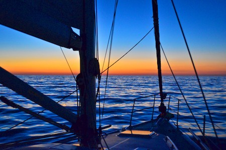 Sunset sailing Huatulco Mexico sail blog 450