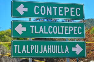 Contepec street sign Morelia Mexico sail blog