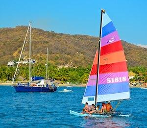 Zihuatanejo catamaran cruising boat sail blog