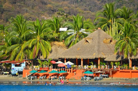 Zihuatanejo Playa La Ropa beach palapa sailing blog