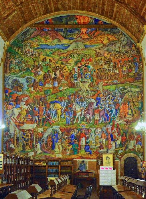 Patzcuaro Mexico library mural living aboard blog
