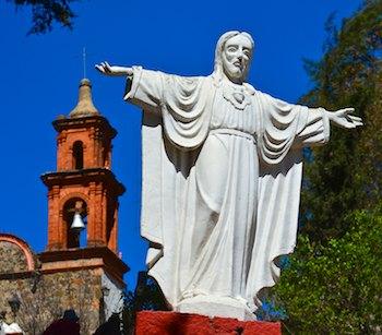 Tlalpujahua Sr Monte statue Mexico cruising blog