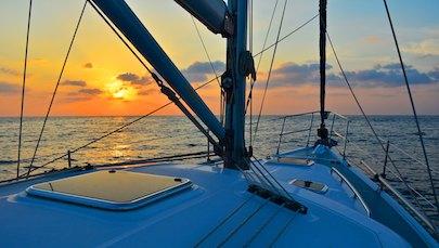 mexico cruising blog sunset at sea