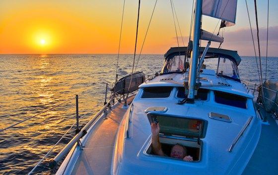 mexico cruising blog sunrise at sea