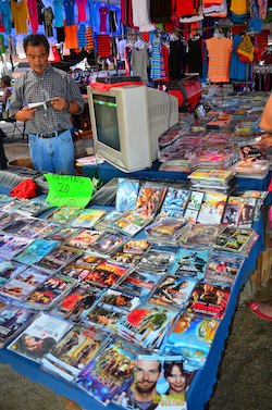 Bootleg DVD street vendor