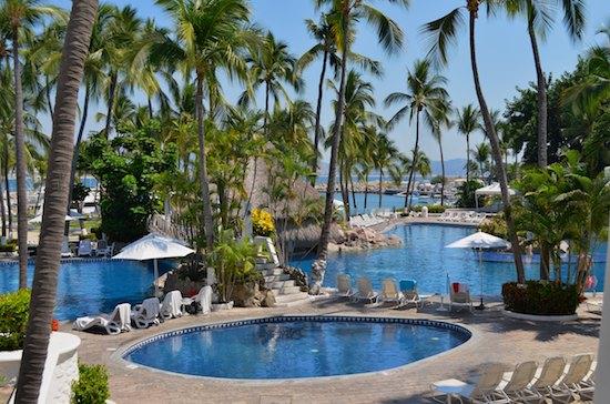 sail blog Las Hadas Resort pools manzanillo mexico