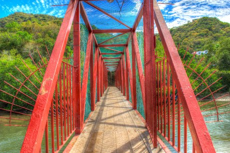 Bridge La Boquita Beach Santiago Manzanillo