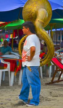 tuba player playa la boquita santiago