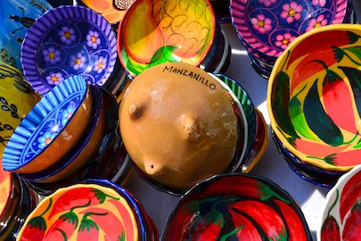cruising blog Colorful clay bowls mexico