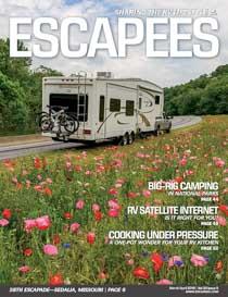 Escapees RV Club Magazine Cover Mar-Apr 2018 Photo by Emily Fagan