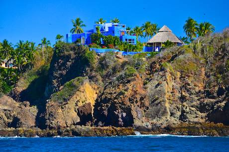 Costa Careyes castle Mexico Costalegre blue mansion