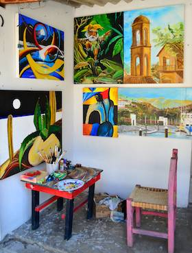 La Cruz Mexico Artist's gallery