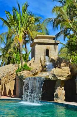 waterfall pool in puerto vallarta