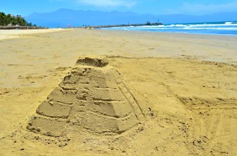 Mayan temple sand castle