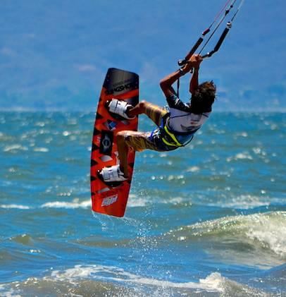 kiteboard jump