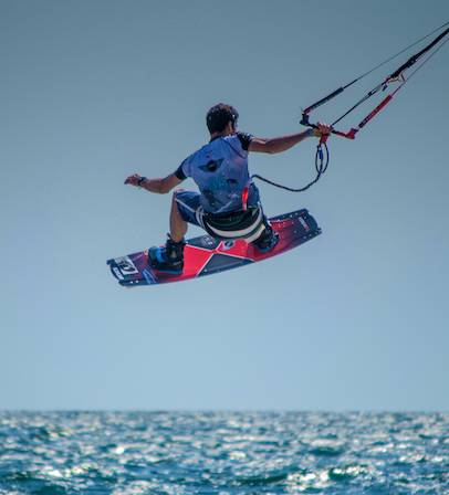 kiteboard flying