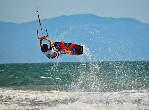 kiteboarder jumping in Puerto Vallarta world cup