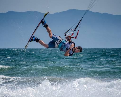 kiteboarder tumbling
