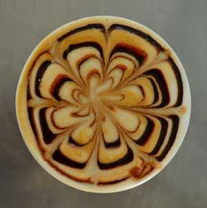 latte swirls