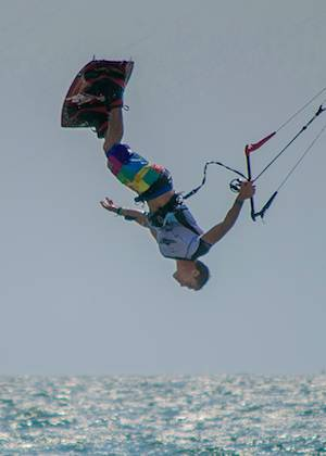 kiteboard tumbling
