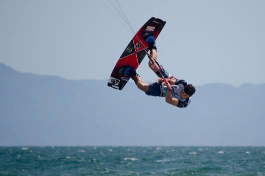kiteboarding somersault