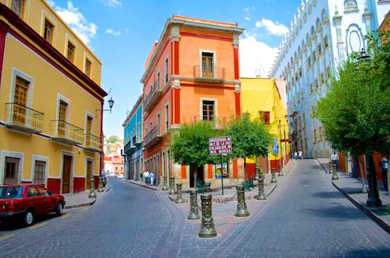 Guanjuato has colorful streets
