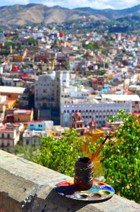 Guanajuato Mexico Artits's pallet