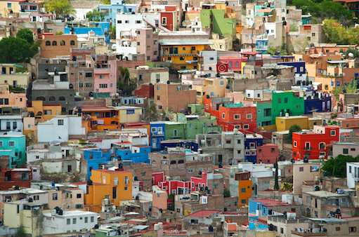 Colorful houses of Guanajuato