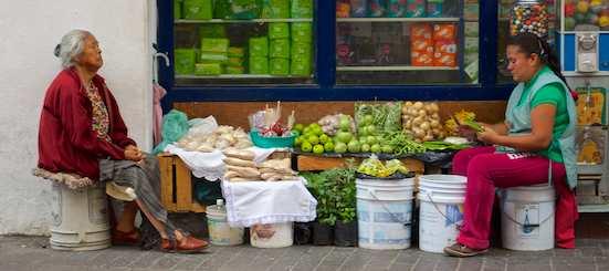 Vegetable sellers in the street