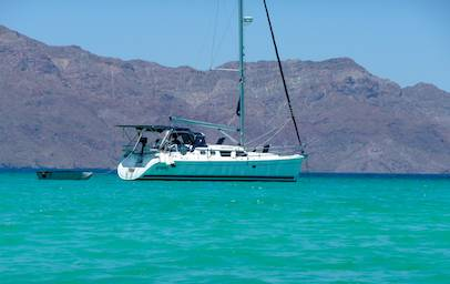 Groovy anchored at Isla Coronado in the Sea of Cortez