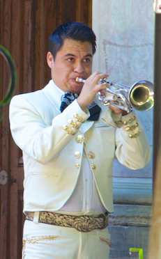 Mariachi trumpet player