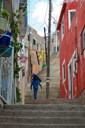Escalera de Guanajuato