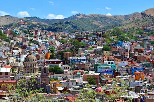 Colorful buildings of Guanajuato