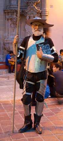 Don Quijote impersonator