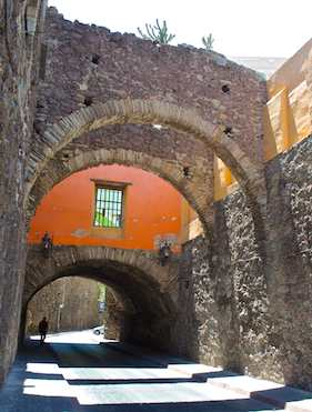 Stone arches in Guanajuato