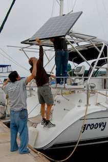 Groovy Boat Solar Panel Installation