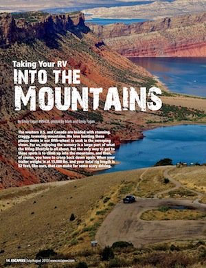 Taking Your RV into the Mountains Escapees Magazine July/August 2013