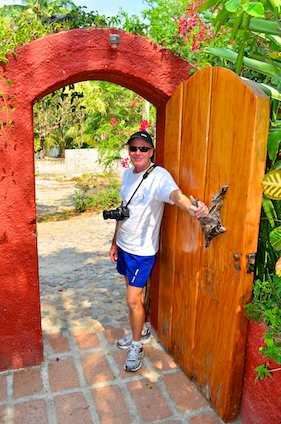 Casa Maguey gate La Manzanilla