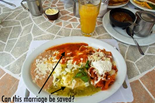 huevos divorciados or divorced eggs