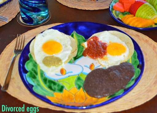 Divorced Eggs or Huevos Divorciados