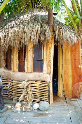 Cabana on the beach La Manzanilla