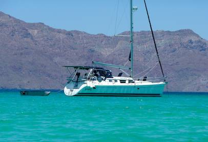 Groovy anchored at Isla Coronado Sea of Cortez