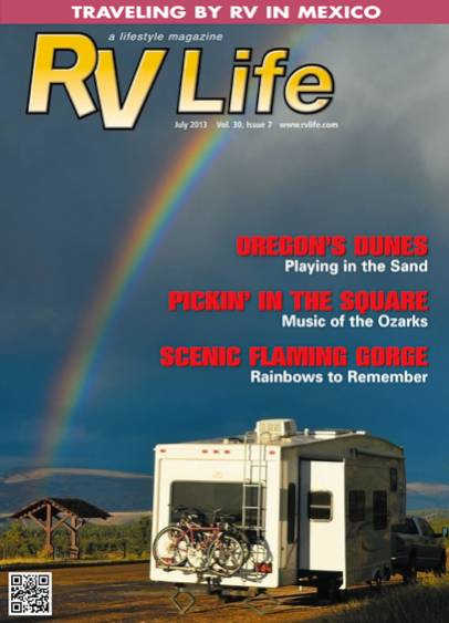 RV Life Magazine Cover July 2013 Emily Fagan Photographer