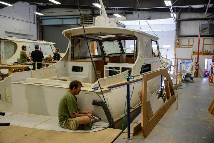 Hinckley Yacht builders in Southwest Harbor Maine