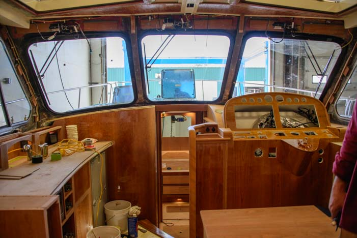 Hinckley Yachts Cherry interior on their boats