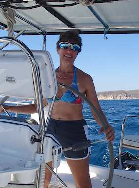 Emily at the helm of Groovy