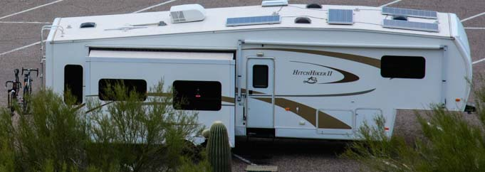 Fifth wheel trailer solar power 681