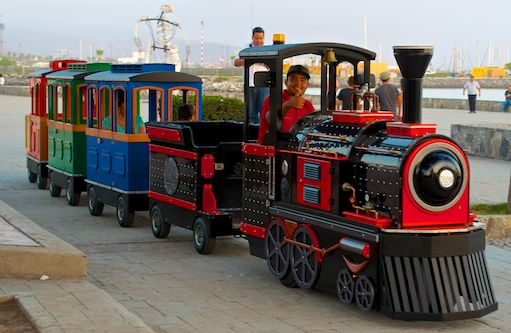 Kiddie Train on the Malecon
