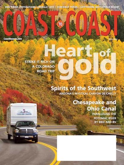 Coast to Coast Magazine cover by Emily agan Fall 2013