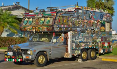 Decorated RV on Shelter Island